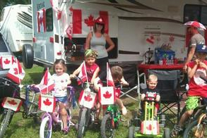 canada day celebrations and dress-up