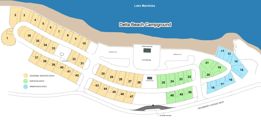 Delta Beach Campground Map 2021
